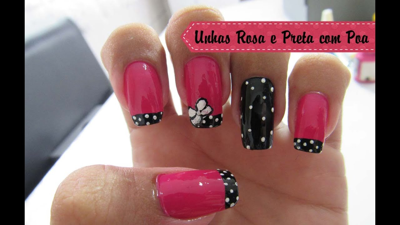 Unhas Decoradas Com Glitter Rosa - Unhas De Decoradas
