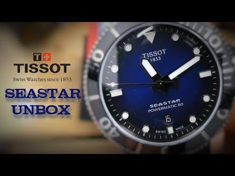 Tissot Seastar 1000 Automatic Unboxing 300m Black Blue Dial Powermatic 80