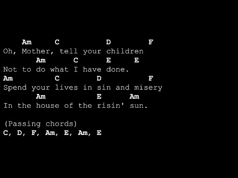 House of The Rising Sun [Acoustic Karaoke - Lyrics&Chords]