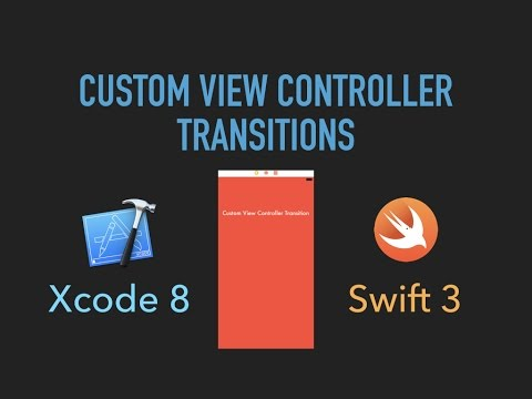 Custom View Controller Transitions - Xcode 8/Swift 3