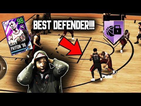 98 OVR POTM GARY PAYTON GAMEPLAY!!! THE BEST DEFENDER IN NBA LIVE MOBILE 18!!!