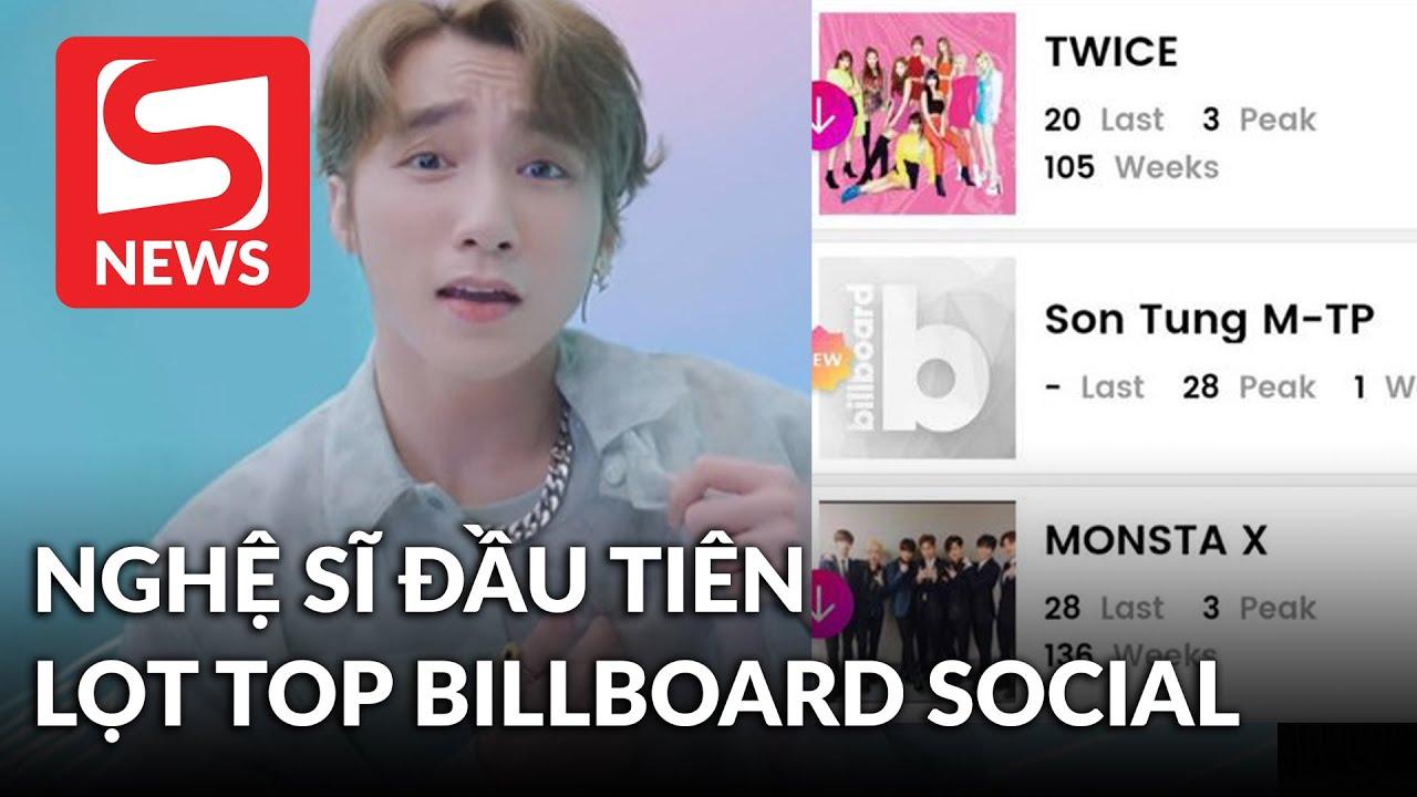Sơn Tùng M-TP là nghệ sĩ Việt Nam đầu tiên lọt vào Billboard Social 50