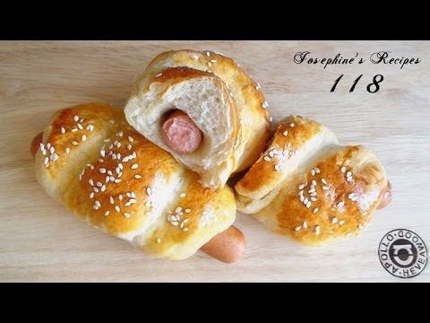 Sausage Bread Rolls L Hot Dog Buns 腸仔包l 手搓低溫軟包法 Josephinerecipes Co Uk Josephine S Recipes