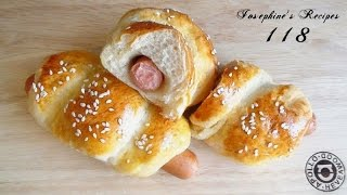 Sausage Bread Rolls L Hot Dog Buns ★ 腸仔包 (手搓低溫軟包法) ★ Josephine's Recipes 118