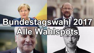 Alle Wahlwerbespots, Wahlspots der 34 Parteien zur Bundestagswahl 2017 #btw17