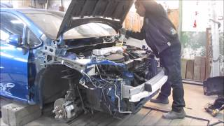 Toyota Auris. Body repair. Ремонт кузова.