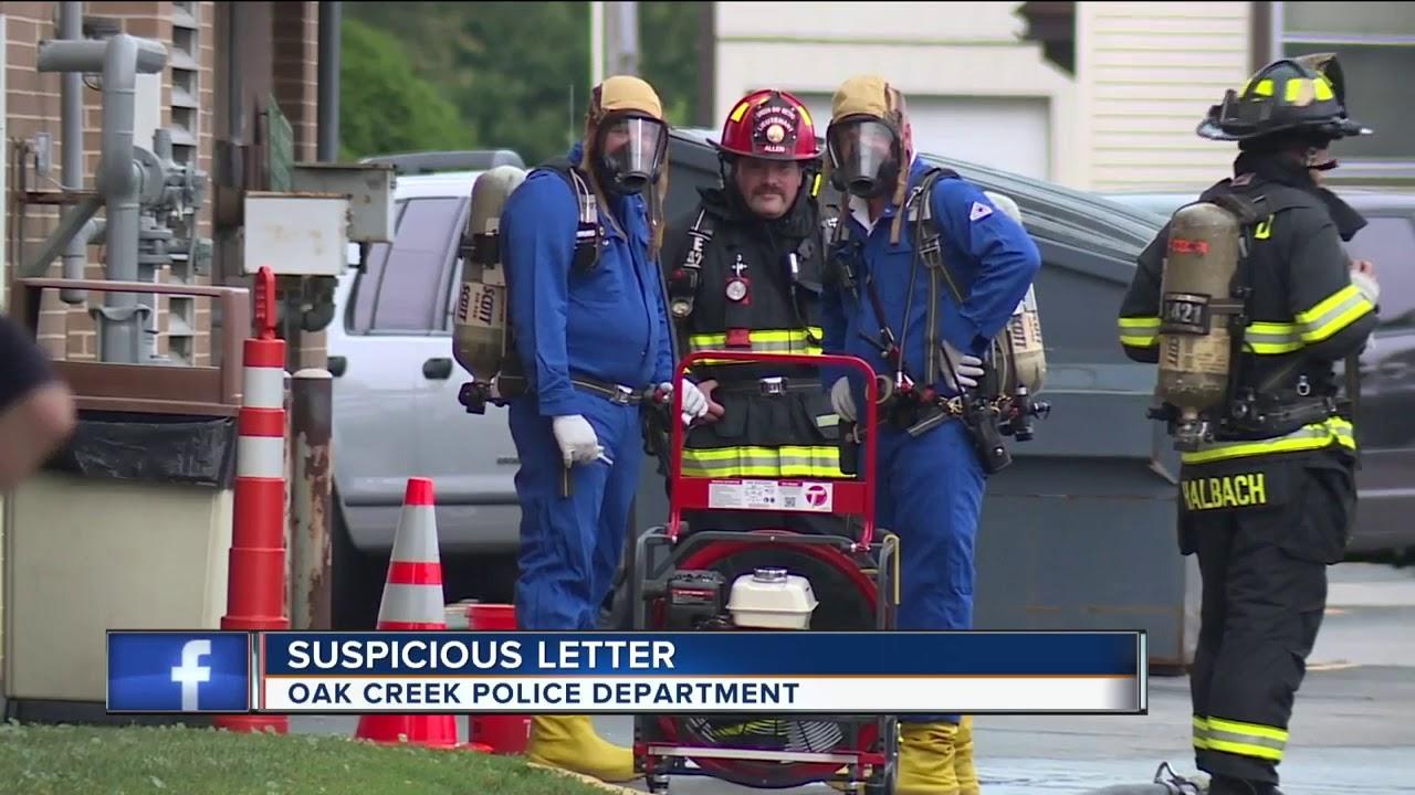 Milwaukee Hazmat Investigating Suspicious Letter Sent To Oak Creek