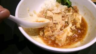 asmr watch me eating mapo tofu 麻婆飯