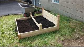 Tiered Cedar Raised Garden Bed; Raised Flower Beds, Raised Vegetable Bed