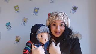 Basic English for kids - Andy's winter clothes