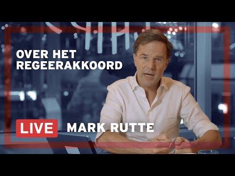 Mark Rutte beantwoordt LIVE vragen over het regeerakkoord