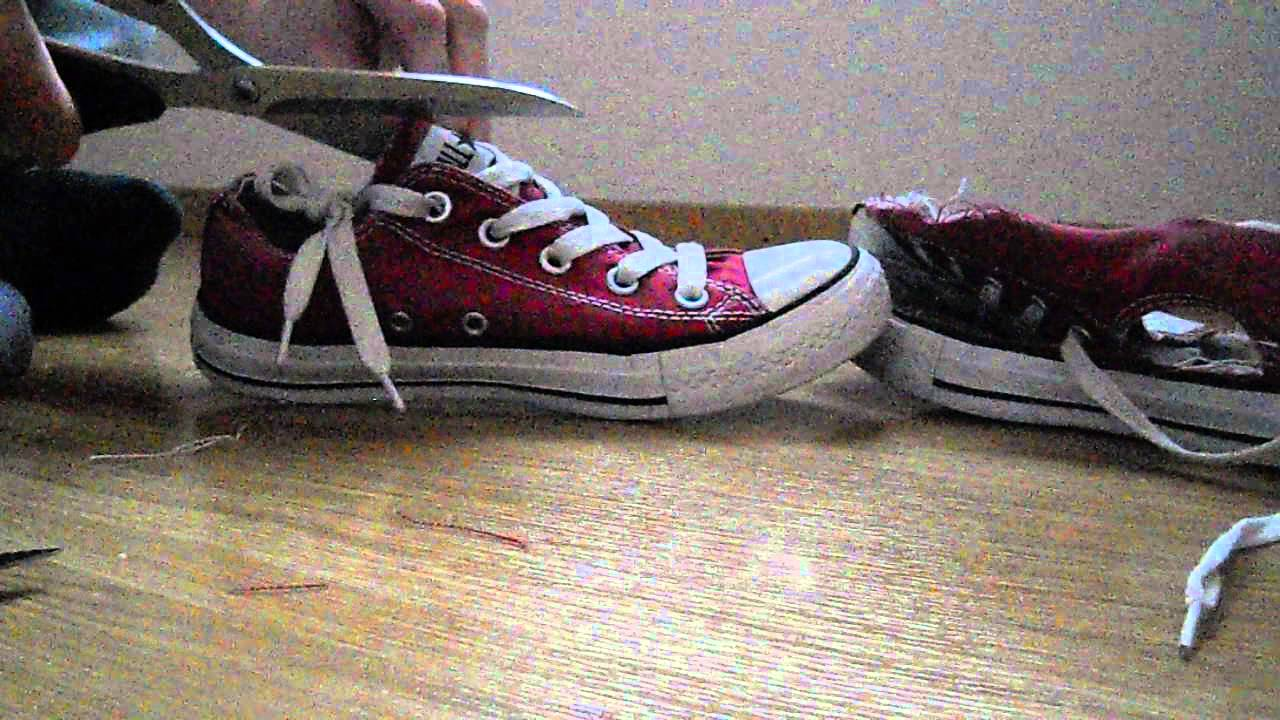 Trash Red Converse