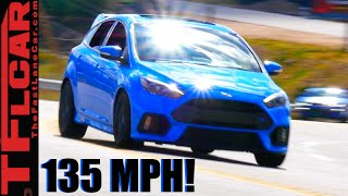 2016 Ford Focus RS Attacks Colorado's Central City Hill Climb at 135 MPH