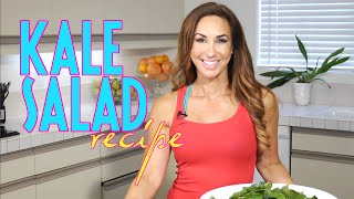 Easy Kale Salad Recipe | Natalie Jill