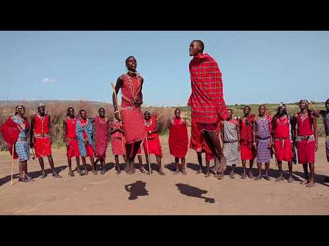 Maasai jumping contest