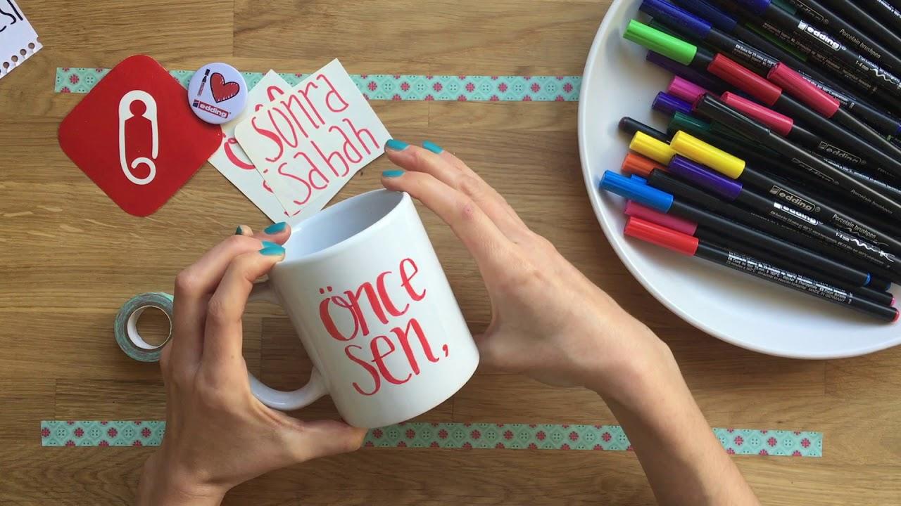 Tasarım Fikri Sevgililer Gününe özel Kupa Boyama Youtube