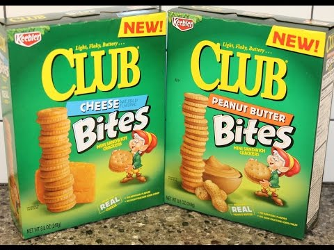 Club Bites Mini Sandwich Crackers: Cheese and Peanut Butter Review