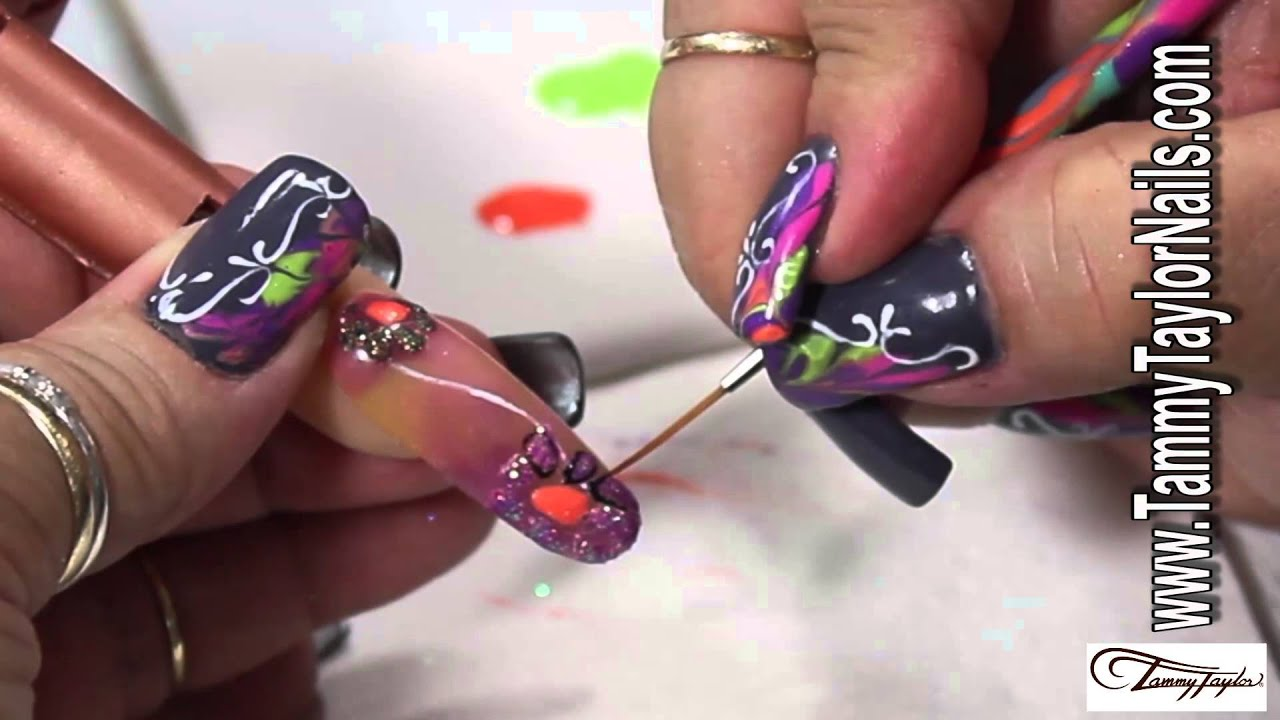 Tammy Taylor Nail Design Video Dazzling Daisies Youtube