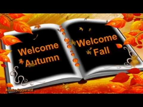 Welcome autumn welcome fall season greetings with quotessms welcome autumn welcome fall season greetings with quotessmsrelaxing musicpics golden leaves youtube m4hsunfo