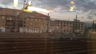 TGVでマルセイユ・サン・シャルル駅を出発