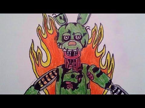 TJOC Drawing - The Joy of Creation: Halloween Edition - Ignited Springtrap