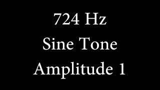 724 Hz Sine Tone Amplitude 1