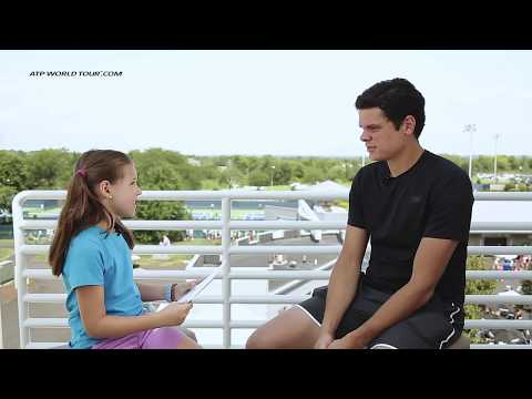 Kid Reporter Talks Art, Hair & More With Milos Raonic