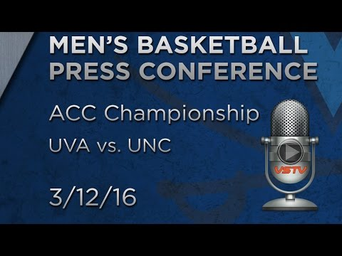 MEN'S BASKETBALL: UVA vs. UNC ACC Championship Postgame