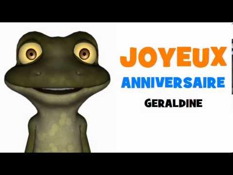 Joyeux anniversaire geraldine youtube - Prenom geraldine ...