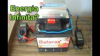Energia infinita usando uma bateria e um inversor será possível ?