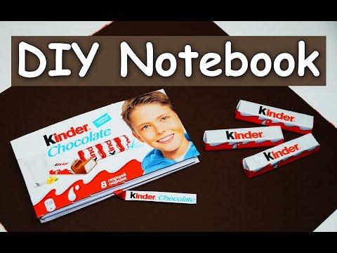 How To Make Kinder Notebook - DIY Notebook Tutorial / DIY BACK TO SCHOOL / Julia DIY