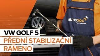 Montáž přední pravý Zkrutna tyc VW GOLF V (1K1): video zdarma