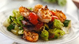 Gluten Free Grilled Salad With Shrimp - Gluten Free With Alex T