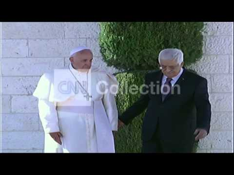 MIDEAST:POPE CEREMONY AT THE PALACE WITH ABBAS
