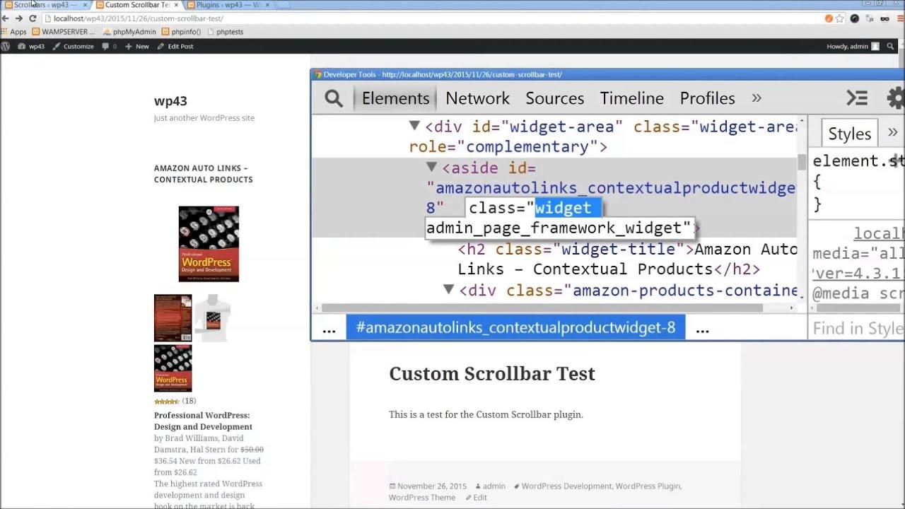 Custom Scrollbar – WordPress plugin | WordPress org