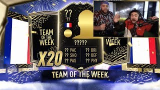 20 GUARANTEED TOTW PACKS!! HUGE PULL!! FIFA 20