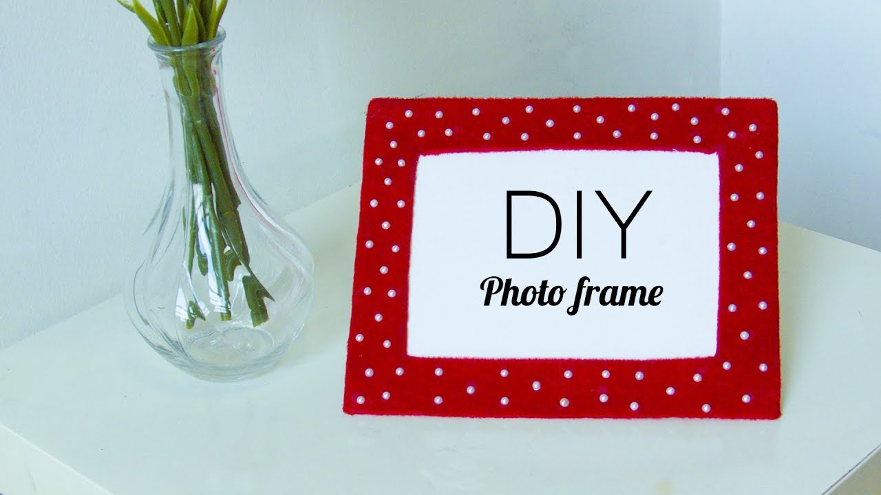 NEW - DIY Easy Photo frame From recycled Cardboard | Room decor ...