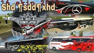 Kumpulan livery SHD HD XHD 2018 bus simulator indonesia android GlaysHd