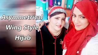 Asymmetrical Wing Style Hijab | Urooj Hijabeaze