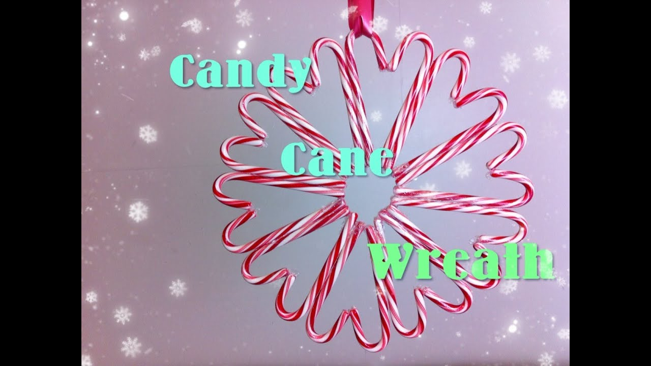 Candy Cane Wreath Diy Day 10 12 Diys Of Christmas