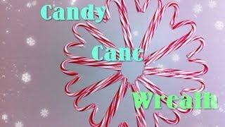 Candy Cane Wreath Diy Day 10: 12 Diys Of Christmas - Keepingupwithashlyn