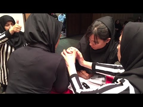 Women's Arm Wrestling Is Iran's Newest Sport