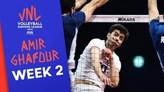 Amir Ghafour goes full force vs Argentina   Volleyball Nations League 2019