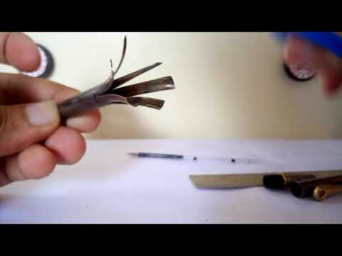 DIY make mini pen from a normal metal pen. Transform your normal pen into a small pen.