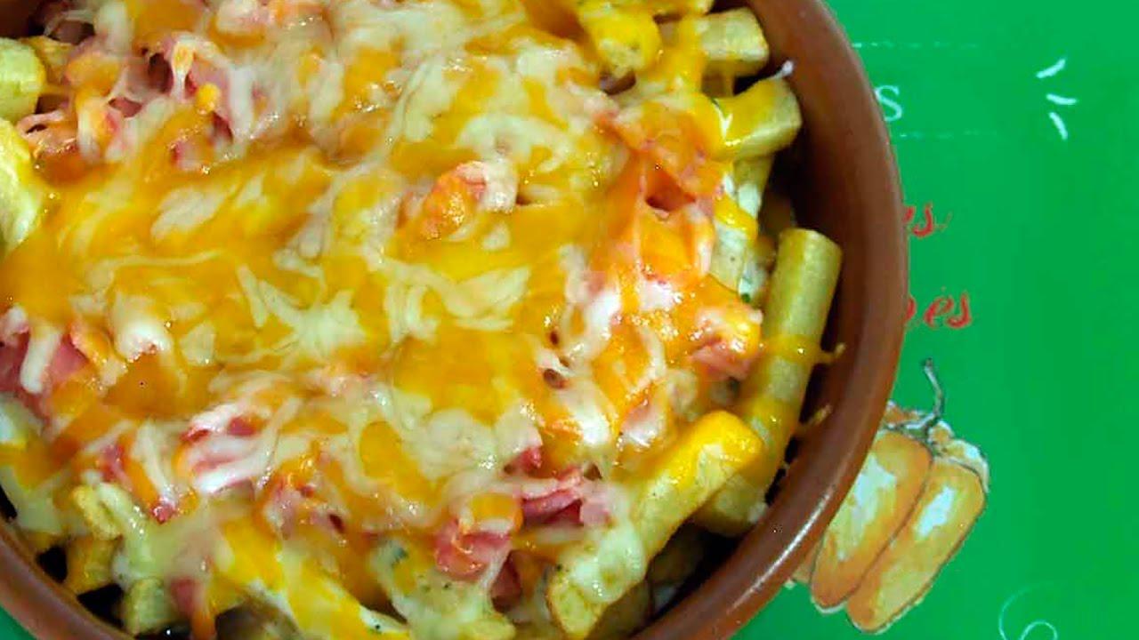 Patatas estilo Foster con queso y bacon - YouTube 698a1f57e7f6