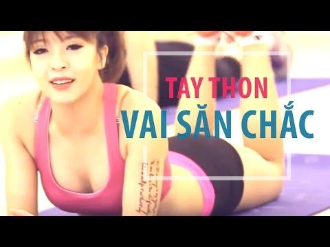 Bài tập giúp tay thon, vai săn chắc | Hana Giang Anh | Workout #15