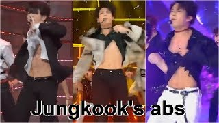 Compilation Jungkook's Abs:  Fake love