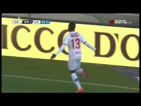 CHADRAC AKOLO, STRIKER, FC SION: Highlights