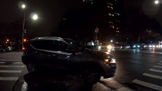 ⁴ᴷ⁶⁰ Walking 21st Street from Long Island City, Queens, NYC to Astoria at Night