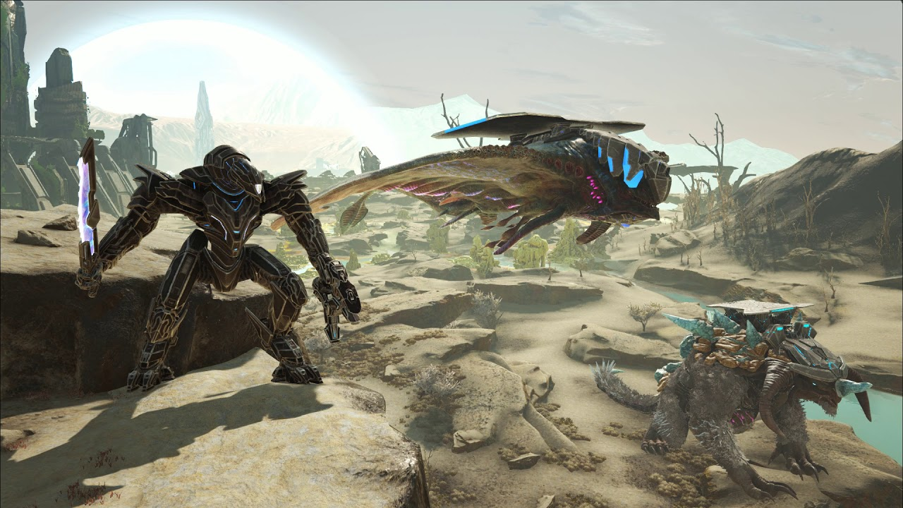 Ark Ext Mega Mek Ice Titan Desert Titan Live